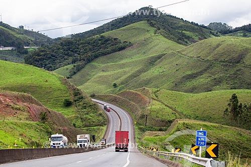 Serra da Mantiqueira no Km 730 da Rodovia BR-040  - Santos Dumont - Minas Gerais (MG) - Brasil