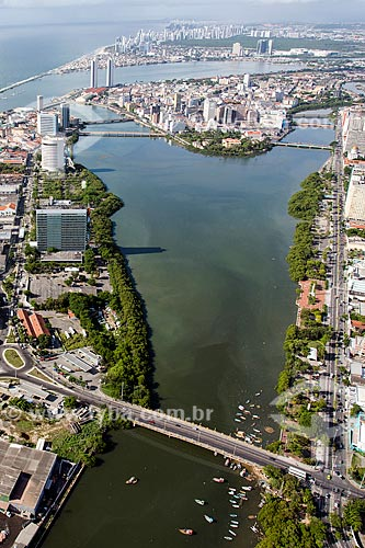 Foto aérea Ponte de Limoeiro sobre o Rio Beberibe  - Recife - Pernambuco (PE) - Brasil