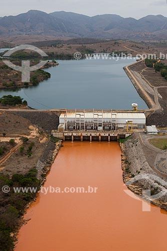 Foto aérea da Usina Hidrelétrica de Aimorés após rompimento da barragem de rejeitos de mineração da empresa Samarco em Mariana (MG)  - Aimorés - Minas Gerais (MG) - Brasil