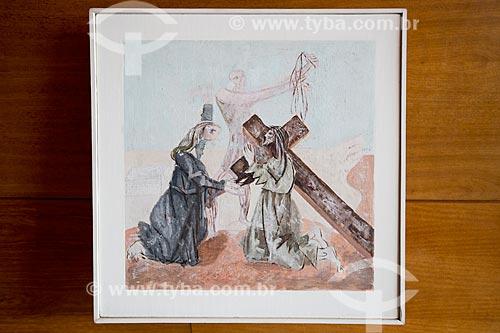 4ª Estação da Via-crúcis: Jesus encontra a sua Mãe - por Cândido Portinari na Igreja São Francisco de Assis (1943) - também conhecida como Igreja da Pampulha  - Belo Horizonte - Minas Gerais (MG) - Brasil