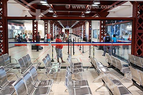 Interior do terminal de passageiros no Porto de Belém  - Belém - Pará (PA) - Brasil