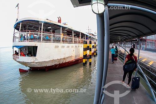 Área de embarque do terminal de passageiros no Porto de Belém  - Belém - Pará (PA) - Brasil