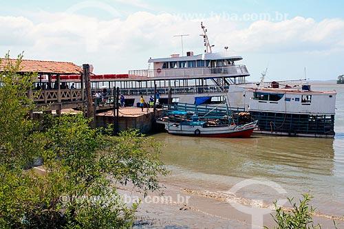 Área de embarque do terminal de passageiros na Ilha de Marajó  - Belém - Pará (PA) - Brasil