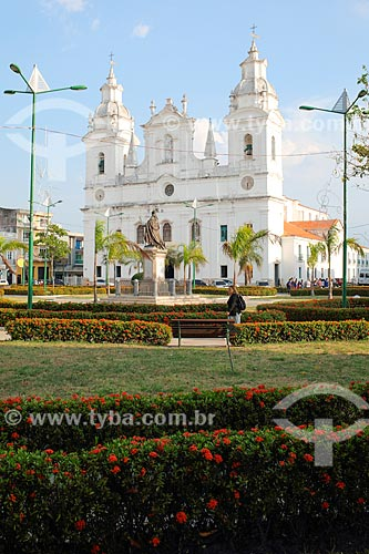 Vista da Catedral Metropolitana de Belém (1771) a partir da Praça Dom Frei Caetano Brandão  - Belém - Pará (PA) - Brasil