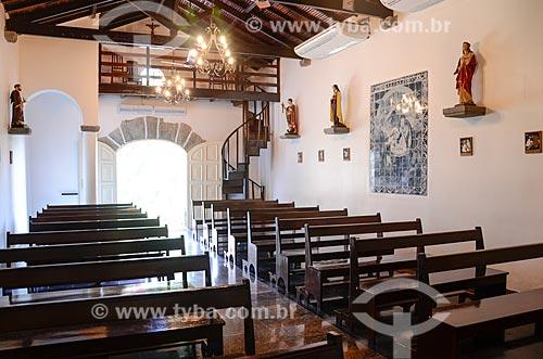 Interior da Capela Santo Cristo dos Milagres  - Rio de Janeiro - Rio de Janeiro (RJ) - Brasil