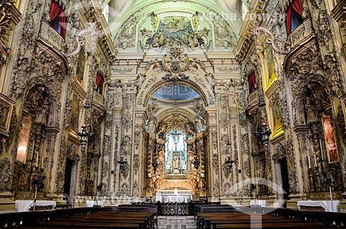 Interior da Igreja de Nossa Senhora do Monte do Carmo ou Igreja da Ordem Terceira do Carmo (1770)  - Rio de Janeiro - Rio de Janeiro (RJ) - Brasil