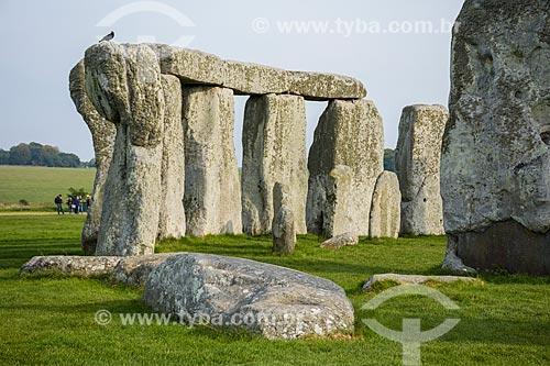 Vista de parte do Stonehenge  - Amesbury - Condado de Wiltshire - Inglaterra