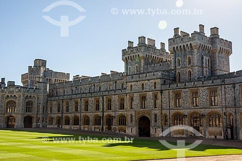 Windsor Castle (Castelo de Windsor) - século XI - residência oficial da família real Britânica na cidade de Windsor  - Windsor - Condado de Berkshire - Inglaterra