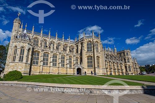 Fachada da St Georges Chapel (Capela de São Jorge) - próximo ao Windsor Castle (Castelo de Windsor)  - Windsor - Condado de Berkshire - Inglaterra
