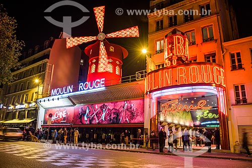 Fachada do Moulin Rouge (1889)  - Paris - Paris - França
