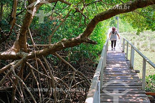 Passarela de acesso à Praia de Barra Velha  - Soure - Pará (PA) - Brasil