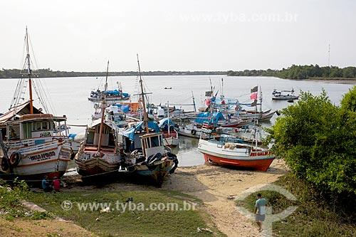 Barcos atracados na Ilha de Marajó  - Soure - Pará (PA) - Brasil