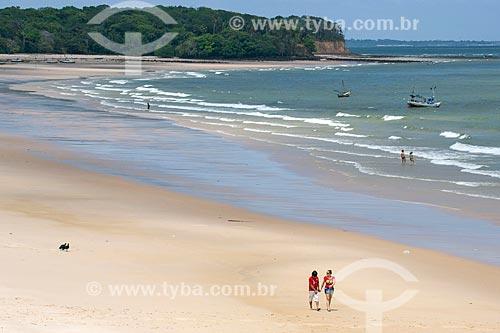 Vista da orla da Praia de Joanes  - Salvaterra - Pará (PA) - Brasil