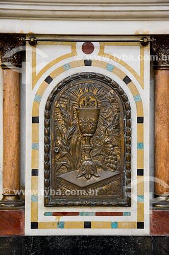 Símbolo dos jesuítas no interior da Igreja de Santo Inácio (1913) - Colégio Santo Inácio  - Rio de Janeiro - Rio de Janeiro (RJ) - Brasil