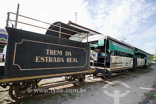 Trem da Estrada Real - que faz o passeio turístico entre as cidades de Paraíba do Sul e Cavaru - na antiga estação de trem de Paraíba do Sul  - Paraíba do Sul - Rio de Janeiro (RJ) - Brasil