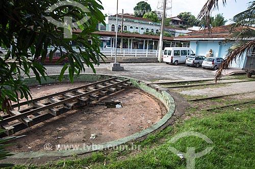 Área de manobra na antiga estação de trem de Paraíba do Sul (século XIX) - hoje abriga o Centro Municipal de Cultura Professora Maria de Lourdes Tavares Soares  - Paraíba do Sul - Rio de Janeiro (RJ) - Brasil