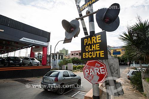 Passagem de nível na cidade de Paraíba do Sul  - Paraíba do Sul - Rio de Janeiro (RJ) - Brasil