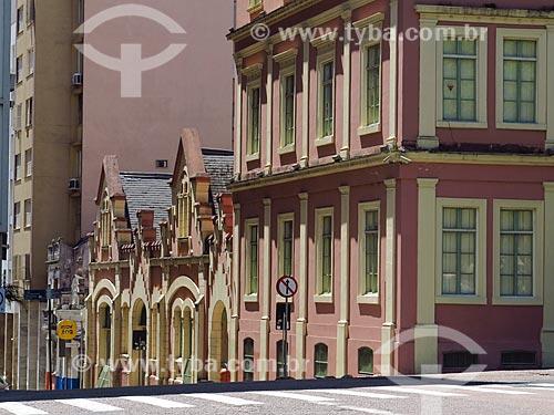 Fachada do Palácio do Ministério Público do Estado do Rio Grande do Sul (1871) - hoje abriga o Memorial do Ministério Público e o gabinete do Procurador Geral de Justiça  - Porto Alegre - Rio Grande do Sul (RS) - Brasil