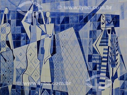 Painel (1949) de Roberto Burle Marx no Instituto Moreira Salles  - Rio de Janeiro - Rio de Janeiro (RJ) - Brasil