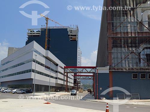 Canteiro de obras do prédio do Centro Internacional de Transmissões - parte do Parque Olímpico Rio 2016  - Rio de Janeiro - Rio de Janeiro (RJ) - Brasil