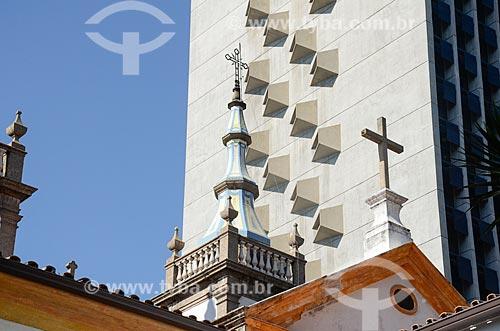 Detalhe da Igreja de Santa Luzia (Século XVIII)  - Rio de Janeiro - Rio de Janeiro (RJ) - Brasil