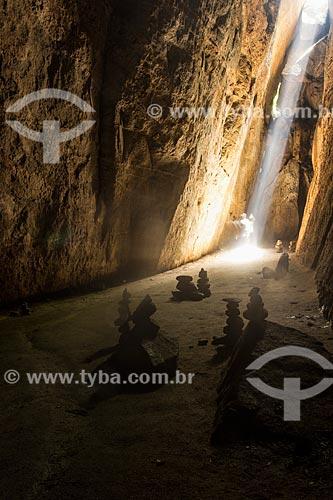 Interior da Gruta dos Morcegos no Parque Nacional da Tijuca  - Rio de Janeiro - Rio de Janeiro (RJ) - Brasil