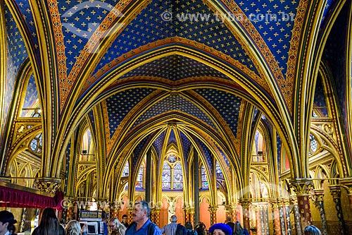 Interior da Sainte-Chapelle (Santa Capela) - 1248  - Paris - Paris - França