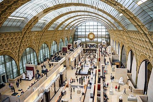Interior do Musée dOrsay (Museu de Orsay)  - Paris - Paris - França