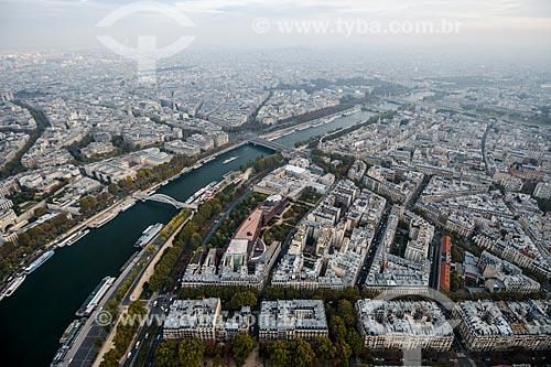 Vista do Rio Sena a partir da Torre Eiffel  - Paris - Paris - França