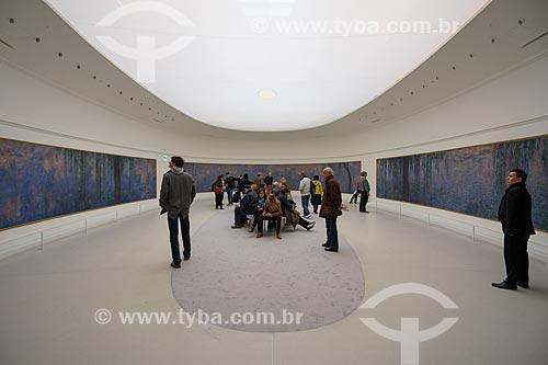 Interior do Musée de lOrangerie - galeria de arte impressionista e pós-impressionista  - Paris - Paris - França
