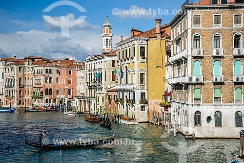 Gôndola no Grande Canal de Veneza  - Veneza - Província de Veneza - Itália