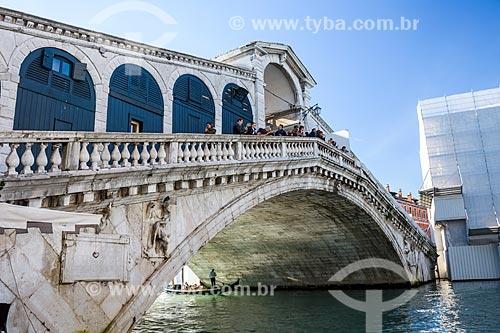 Ponte di Rialto (Ponte de Rialto) sobre o Grande Canal de Veneza  - Veneza - Província de Veneza - Itália
