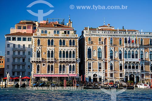 Gôndolas no Grande Canal de Veneza  - Veneza - Província de Veneza - Itália