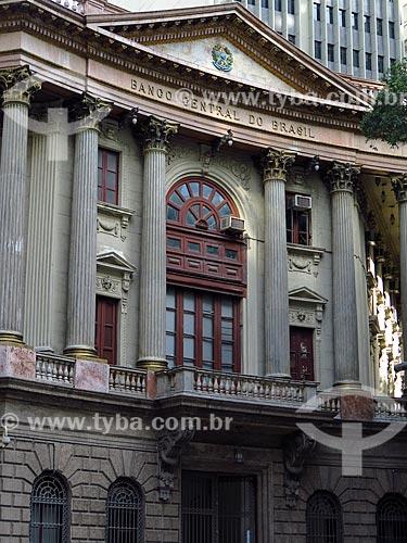 Fachada do antigo prédio da Caixa de Amortização (1906) - hoje abriga a Gerência do Meio Circulante (MECIR) do Banco Central  - Rio de Janeiro - Rio de Janeiro (RJ) - Brasil
