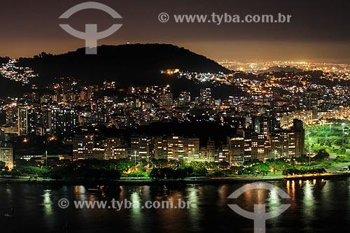 Vista noturna do Aterro do Flamengo  - Rio de Janeiro - Rio de Janeiro (RJ) - Brasil