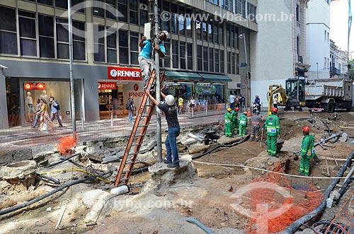 Obras na Rua Sete de Setembro  - Rio de Janeiro - Rio de Janeiro (RJ) - Brasil
