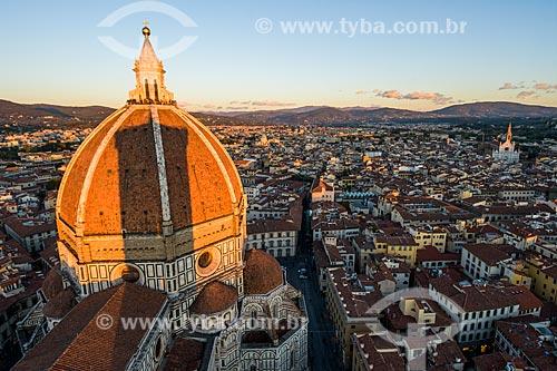Vista geral da cidade de Florença a partir da Duomo di Firenze - Santa Maria del Fiore  - Florença - Província de Florença - Itália