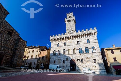 Palazzo Comunale na cidade de Montepulciano  - Montepulciano - Província de Siena - Itália