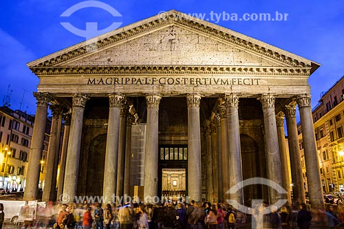 Fachada do Panteão - atualmente Chiesa di Santa Maria dei Martiri (Igreja de Santa Maria dos Mártires)  - Roma - Província de Roma - Itália