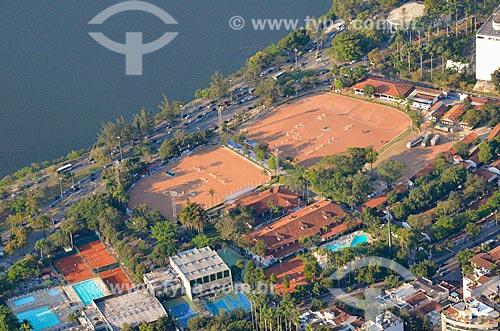 Vista da Sociedade Hípica Brasileira a partir do Cristo Redentor  - Rio de Janeiro - Rio de Janeiro (RJ) - Brasil