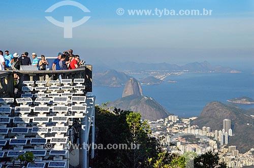 Vista do Pão de Açúcar a partir do mirante do Cristo Redentor  - Rio de Janeiro - Rio de Janeiro (RJ) - Brasil