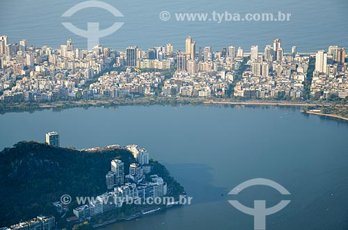 Vista do bairro de Ipanema a partir do Cristo Redentor  - Rio de Janeiro - Rio de Janeiro (RJ) - Brasil