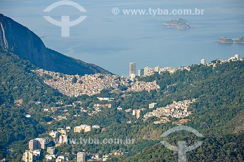 Vista da Favela da Rocinha a partir do Cristo Redentor  - Rio de Janeiro - Rio de Janeiro (RJ) - Brasil