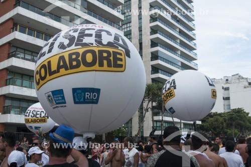 Blitz da Operação Lei Seca durante o desfile da Banda de Ipanema  - Rio de Janeiro - Rio de Janeiro (RJ) - Brasil