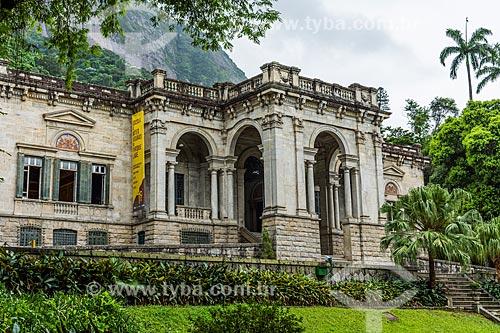 Fachada do prédio da Escola de Artes Visuais do Parque Henrique Lage - mais conhecido como Parque Lage  - Rio de Janeiro - Rio de Janeiro (RJ) - Brasil