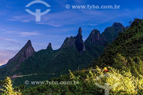 Vista dos picos do Escalavrado, Dedo de Nossa Senhora, Dedo de Deus, Cabeça de Peixe e Santo Antônio  - Teresópolis - Rio de Janeiro (RJ) - Brasil
