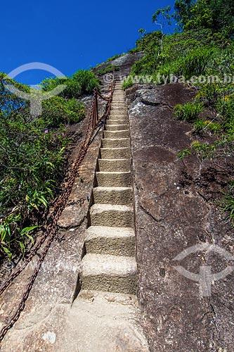 Escada de acesso ao Pico da Tijuca  - Rio de Janeiro - Rio de Janeiro (RJ) - Brasil