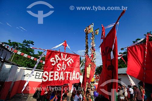 Fiéis na Procissão de Sâo Sebastião  - Manaus - Amazonas (AM) - Brasil