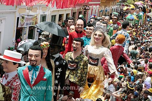 Desfile de boneco gigante durante o carnaval de Olinda  - Olinda - Pernambuco (PE) - Brasil