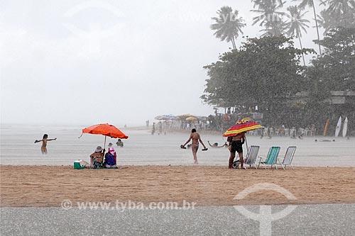 Chuva na praia da Barra do Gramame  - Conde - Paraíba (PB) - Brasil